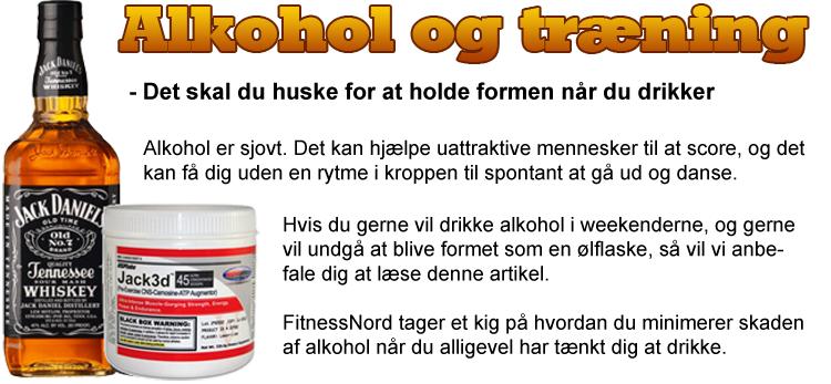 Træning og alkohol